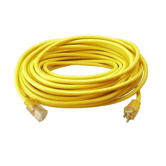 Coleman Cable 02588 123 50 Foot Vinyl Outdoor Extension Cord with Lighted End-1