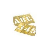 C.H. Hanson 10166 10 Oversized Brass Gothic Letter Stencil (33 piece)-1