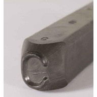 C.H. Hanson 25700X 116'' Premier Grade Round Face Low Stress Steel Individual Letter X-1
