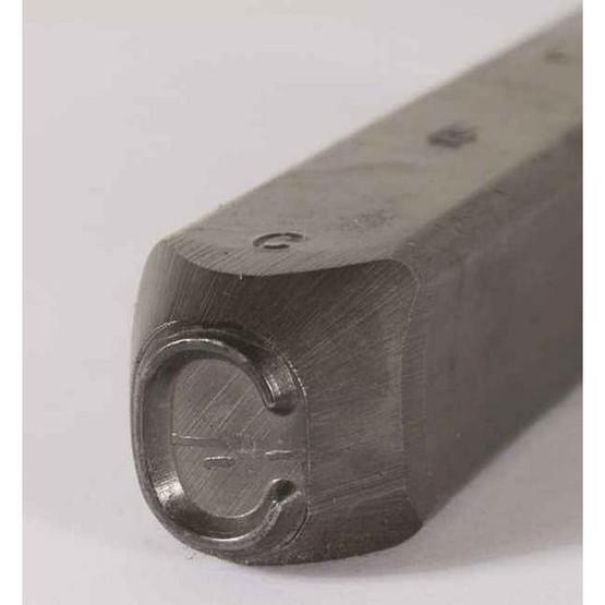 C.H. Hanson 25900M 14'' Premier Grade Round Face Low Stress Steel Individual Letter M-2