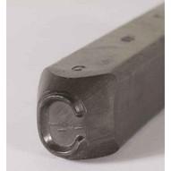 C.H. Hanson 26000T 12'' Premier Grade Round Face Low Stress Steel Individual Letter T-1