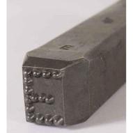 C.H. Hanson 26400Q 12'' Premier Grade Dot Design Low Stress Steel Individual Letter Q-2