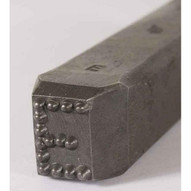 C.H. Hanson 26400V 12'' Premier Grade Dot Design Low Stress Steel Individual Letter V-3