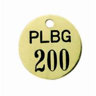 C.H. Hanson 40125F Cw-brass Valve Tags (126 To 150)-1