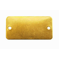 C.H. Hanson 41252 34 X 1-34 Brass Rectangle W Rounded Corners Blank Tags 100 Pk-1
