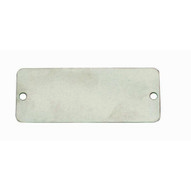 C.H. Hanson 41291 1 X 3 Aluminum Rectangle W Rounded Corners Blank Tags 100 Pk-1