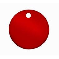 C.H. Hanson 43018 3 Diameter Anodized Aluminum-red Round Blank Tags 5 Pk-1