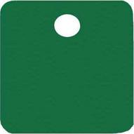C.H. Hanson 43092 2 Anodized Aluminum-green Square Blank Tags 5 Pk-1