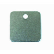 C.H. Hanson 43136 1-12 316 Stainless Steel Square Blank Tags 10 Pk-1