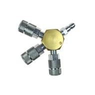 Coilhose Pneumatics 3133-59C 3 Port Flat Hex Manifold 38 Automotive Interchange-1