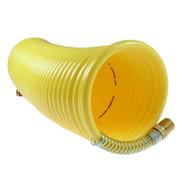 Coilhose Pneumatics N38-50cc15 3 8 Id X 50'; 1 4 Industrial Cplr conn On Either End Nylon Air Hose Coiled Hose-1
