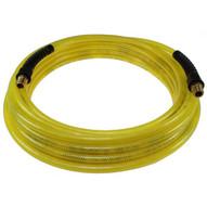 Coilhose Pneumatics Pfe6025-s15x-ty Flexeel Hose 38 Id X 25' 14 Industrial Qds W Sr Reinforced Poly Straight Hose - Transparent Yellow-1