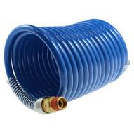 Coilhose Pneumatics S38-254b 3 8 Id X 25' 1 4 Mpt Swivel Stowaway Hd Nylon Air Hose Coiled Hose-1