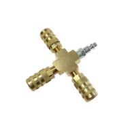 Coilhose Pneumatics X004-14X Cross Manifold Assembly 6-point Aro Interchange-1