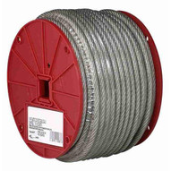 Campbell 7000697 3 16 7 X 19 Cable Clear Vinyl Coated To 1 4 250 Feet Per Reel-1