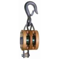 Campbell 7207135 3002k 6� Double Regular Wood Shell Block Bronze Bushed Galvanized-1