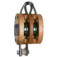 Campbell 7207136 3002af 6� Double Regular Wood Shell Block Bronze Bushed Galvanized-1