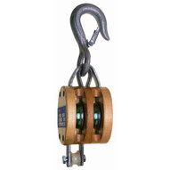 Campbell 7207335 3002k 8 Double Regular Wood Shell Block Bronze Bushed Galvanized-1