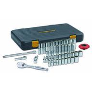 Gearwrench 80300P 51 Pc. 14 Drive 120xp� Saemetric 6 Point Standard & Deep Socket Set-1