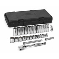 Gearwrench 80568 30 Pc. 38 Drive 12 Point Sae Standard And Deep Socket Set-1