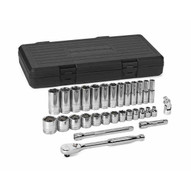 Gearwrench 80569 30 Pc. 38 Drive 6 Point Sae Standard And Deep Socket Set-1
