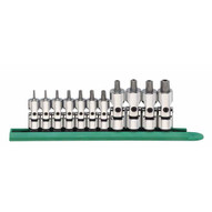 Gearwrench 81052 11 Pc. 14 And 38 Drive Universal Tamper Proof Torx Bit Socket Set-1