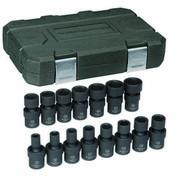 Gearwrench 84918 15 Pc. 38 Drive 6 Point Metric Impact Universal Socket Set-1