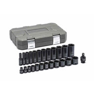 Gearwrench 84919N 25 Pc. 38 Drive 6 Point Sae Std.deep Impact Socket Set-1