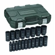 Gearwrench 84934 19 Pc. Impact Socket Set Deep Sae 12 Drive-1