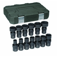 Gearwrench 84938 13 Pc. 12 Drive 6 Point Sae Impact Universal Socket Set-1
