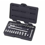 Gearwrench 891427 27 Pc. 14 Drive Pass-thru� Ratchet Set Featuring Locking Flex Gearratchet� Handle Saemetric-1