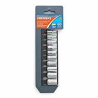 Crescent CSAS9 10 Pc. 14 Drive 6 Point Metric Socket Set-1