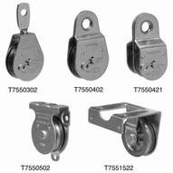 Campbell T7550421 1-12 Heavy Duty Steel Pulley Double Sheave Fixed Eye (5 In A Box)-1