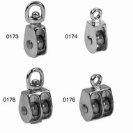 Campbell T7655312 1 Pulley Double Sheave Swivel Eye #0178 (10 In A Box)-1