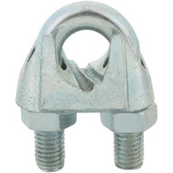 Campbell T7670499 3/4in Wire Rope Clip, Electro-galvanized
