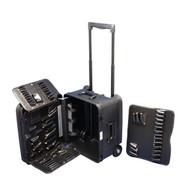 Xcelite TCMB100MTW 18 x 15 x 8 Black Attache Tool Case with Wheels - No Tools-1