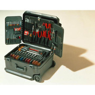 Xcelite TCMB100STW 18 x 15 x 8 Black Attache Tool Case with Wheels - with Tools-1