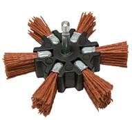 Century Drill & Tool 77341 4 Coarse Nylon Flap Brush Hexshank-1