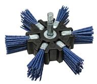 Century Drill & Tool 77343 4 Fine Nylon Flap Brush Hexshank-1