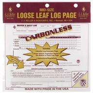 J.J. Keller 615MP Mid-size Daily Log 2-ply Carbonless W simplified Dvir - Retail Packaging-1