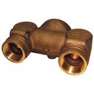 Dixon Valve CDMHCB60230 Straight 6 Npt X (2) 3 Npt Concealed Hydrant Body-brass-1