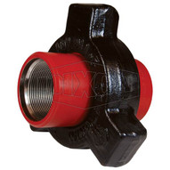 Dixon Valve HU400400 4 Steel Hammer Union Threaded 400 Series Red Sub Black Nut-1