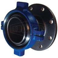 Dixon Valve HUM206400FLG-ST 4 Fig.206 Male Ham Union X 125# Flng-short (wnut & Buna O'ring)-1