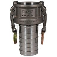 Dixon Valve L200-C-SS 2 316ss Vent-lock Female Coupler X Hose Shankcrimp Ferrule Compatible-1