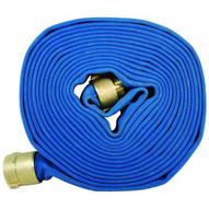 Dixon Valve PW615B50RAF 1-12 50' Dj Blue Potable Water Hose Cpld Rl Alum Nst-1