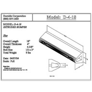 Durable Corp D18 Extruded Dock Bumper 4 X 4 14 X 18-1