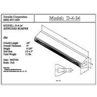 Durable Corp D24 Extruded Dock Bumper 4 X 4 14 X 24-1