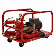 Rice Hydro FH4-E 4 Outlet Fire Hose Tester 1000 PSI Triplex Plunger 220 Volt Electric Motor-1