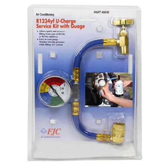 FJC 6846 R1234yf U Charge Hose Withgauge-2