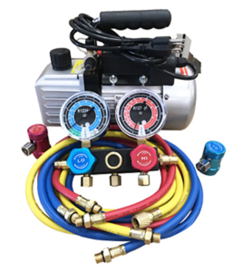 FJC 9281YF R1234yf Vacuum Pump & Gaugeset-1